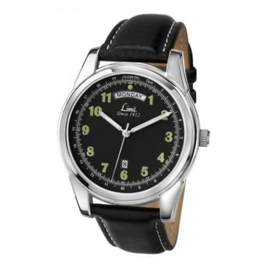 Gents Black Strap Watch