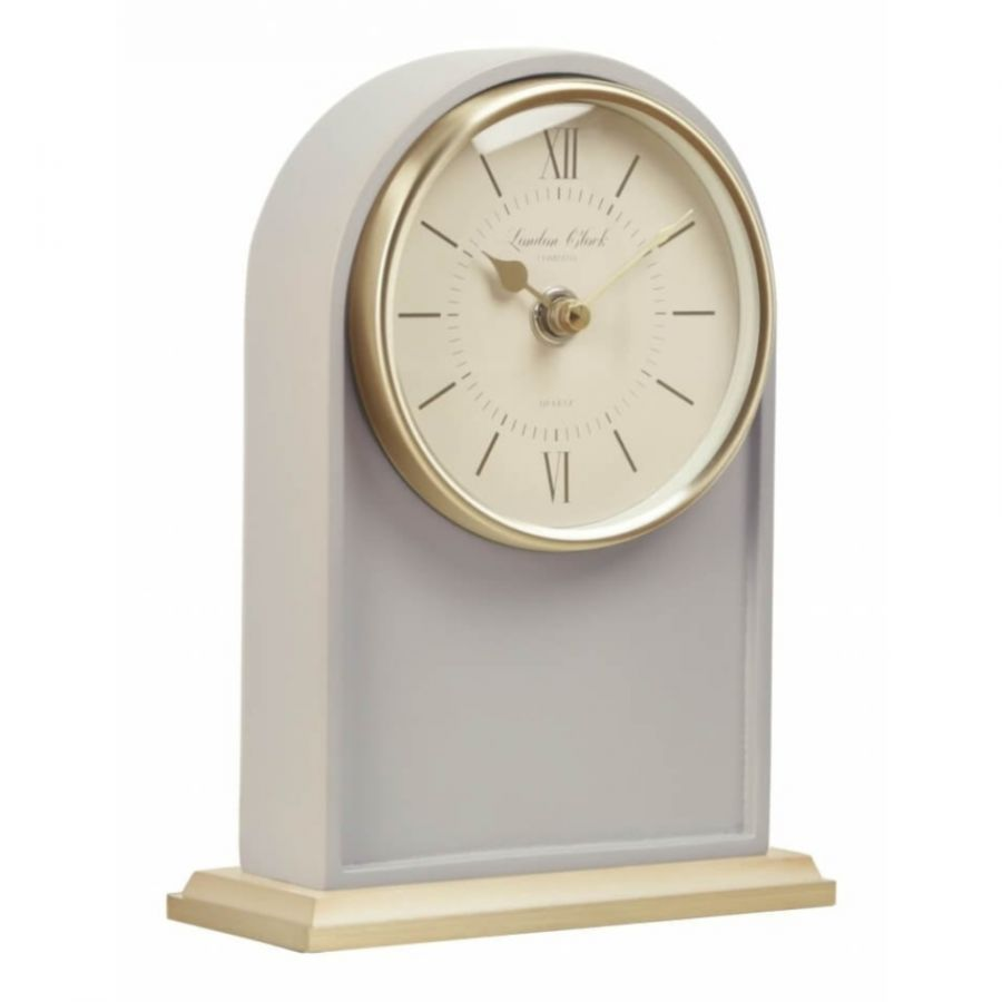 1922 Heritage Tall Arch Grey Mantel Clock