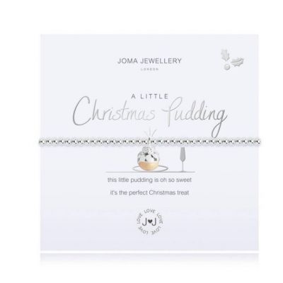 A little stocking filler.  A Little Christmas Pudding Bracelet by Joma.  #joma #jomajewellery #jomabracelets #giftsforher #bracelets #edmondsjewellerscoventry