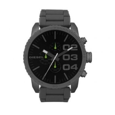 DIESEL Men's Gunmetal Chronograph Stainless Steel Rubber Watch.  Product Code:-DZ4254 #gentswatches #watches #dieselwatches #stainlesssteelwatches #giftsformen #edmondsjewellerscoventry