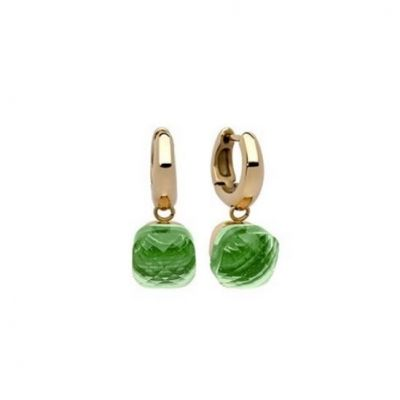 "QUDO Creole ""Firenze"" Big (G/P) Peridot Earrings. #qudo #qudoearrings #qudojewellery #jewellery #earings #swarovski #swarovskicrystals #edmondsjewellerscoventry"