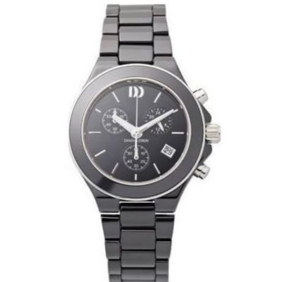 DANISH DESIGN Ladies Black Ceramic Chronograph Sapphire Crystal Watch. #watches #ladieswatches #danishdesignwatches #giftsforladies #edmondsjewellerscoventry